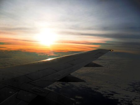 Spain, View from the plane of the sky Stock Photo