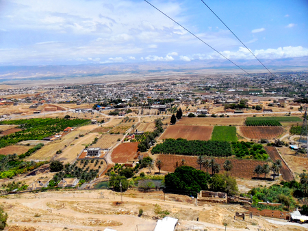 Travel to Israel, Middle East, visit city of Jericho, Mount of Temptation Stock Photo