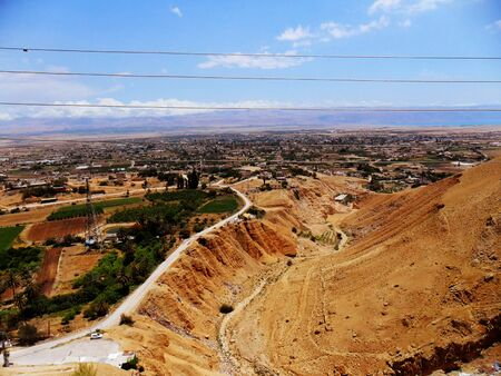 judea: Travel to Israel, Middle East, visit city of Jericho, Mount of Temptation Stock Photo