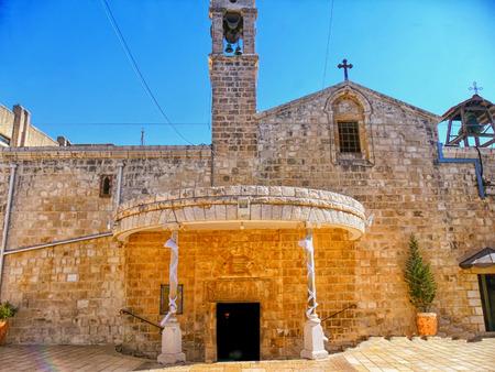 Greek Orthodox Church of the Annunciation, Israel, Nazareth Stock Photo