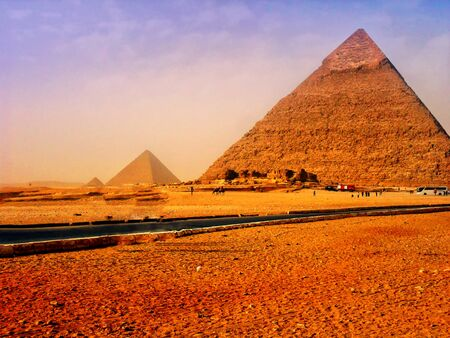 The Pyramids and Sphinx of Giza in Egypt