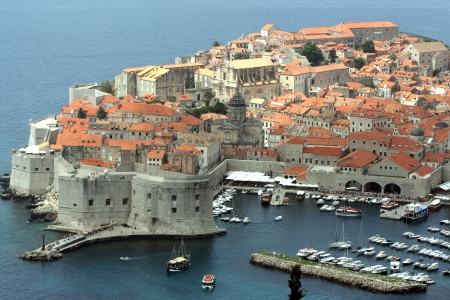 Panorama of Dubrovnik, beautiful old town in Croatia photo