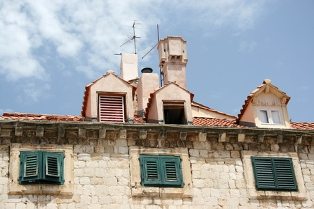 architectonics: Pictorial scene of Dubrovnik roofs Editorial