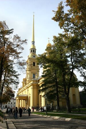 The Peter and Paul Fortress in St. Petersburg. photo