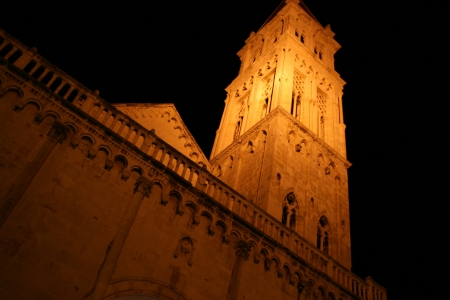 Old tower of cathedral in Trogir.