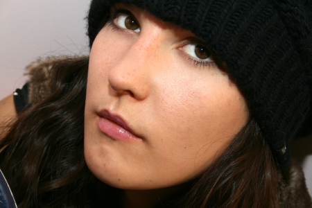 Close-up portrait of beautiful woman.