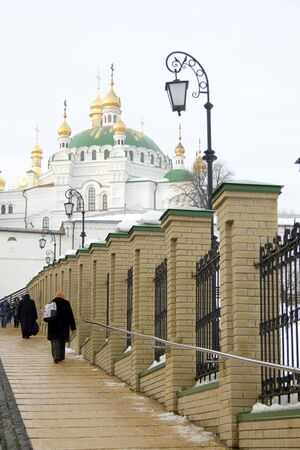Kiev Pechersk Lavra in winter time  photo