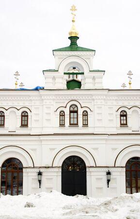 The view on Kiev Pechersk Lavra in winter time