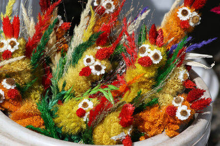 Symbol of Easter. Small handmade chicks.
