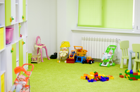 Interior of a modern kindergarten.