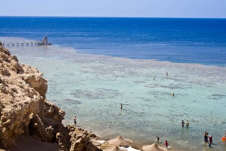 Coast of the Red Sea in Egypt