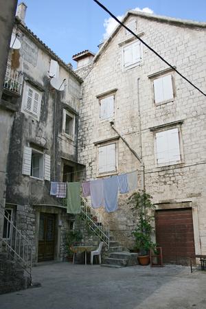 Old street of the city of Trogir, Croatia Editorial