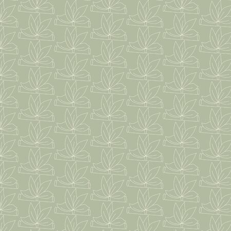Seamless floral pattern with with hand-drawn Star Festival / Tanabata Matsuri elements