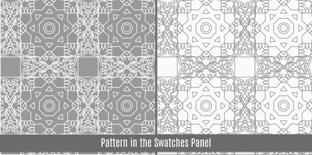 Seamless pattern with traditional Arabic ornaments. Background in Islamic style. Vector abstract texture. Illustration
