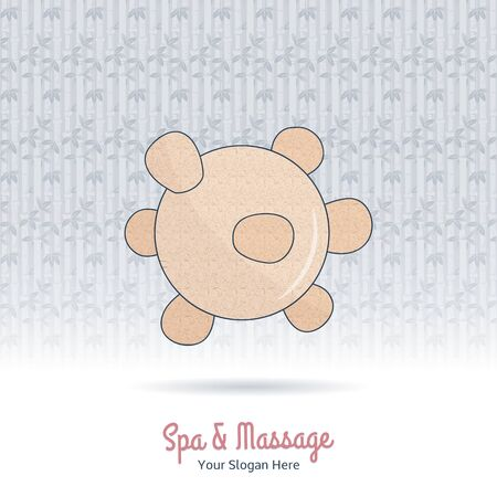 beauty therapist: Hand drawn reflexology Thai massage tool. Design elements on grange background. Concept for beauty salon, massage, cosmetic and spa. Isolated high quality vector graphic.