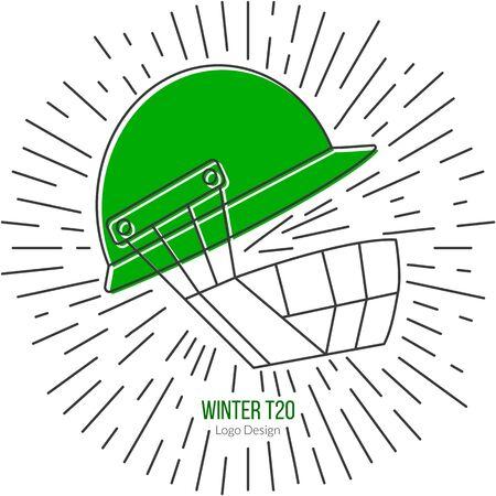 cricketer: Cricket helmet with vintage sun rays.