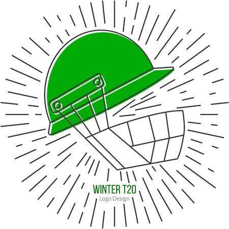 Cricket helmet with vintage sun rays.