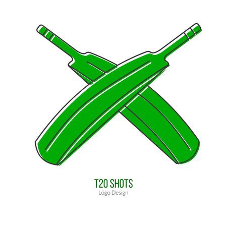 cricketer: Green Cricket bats.