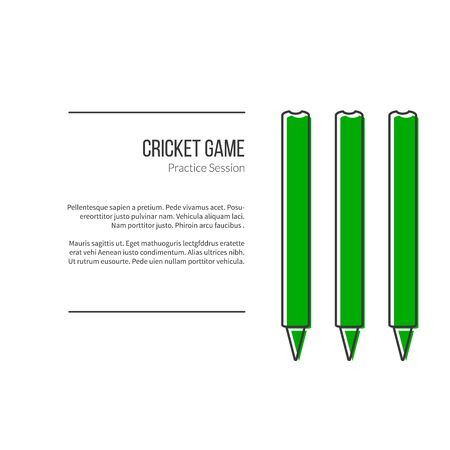 mania: Green Cricket stamps. Illustration