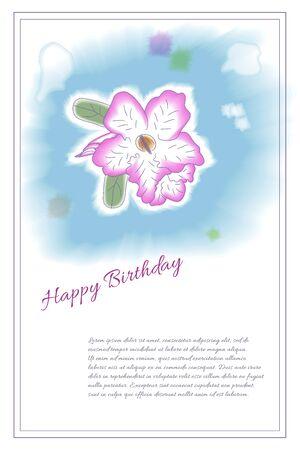 カード テンプレートです。手は、水彩風の花を描いた。結婚式招待状、日付、ベビー シャワー、母の日、バレンタインデー、誕生日カードなどの完
