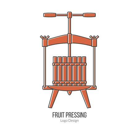Fruit press. Vektoros illusztráció