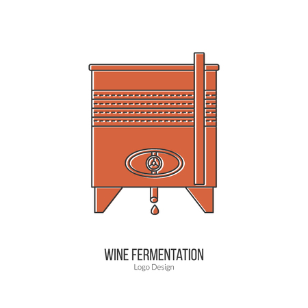 stainless steel: Stainless steel wine tank. Illustration