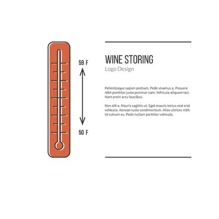 Thermometer with graphic temperature.