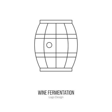 wine barrel: Oak wine barrel. Illustration