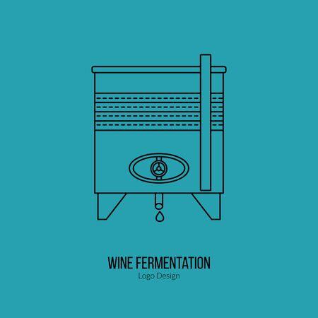 Stainless steel wine tank.  イラスト・ベクター素材