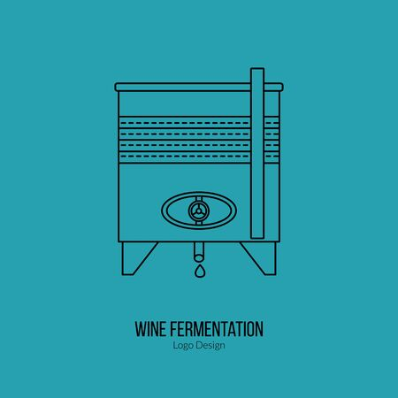stainless: Stainless steel wine tank. Illustration