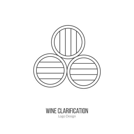 viticulture: Oak wine barrels. Illustration