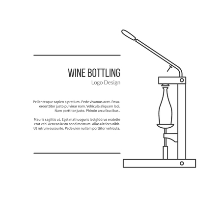 winemaking: Wine bottle corker.