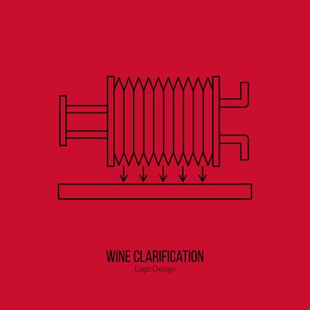 sommelier: Wine filter pump system.