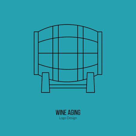 winemaking: Oak wine barrel. Illustration
