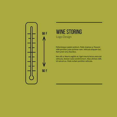 vinification: Thermometer with graphic temperature.