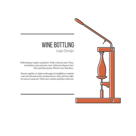 vinification: Wine bottle corker.