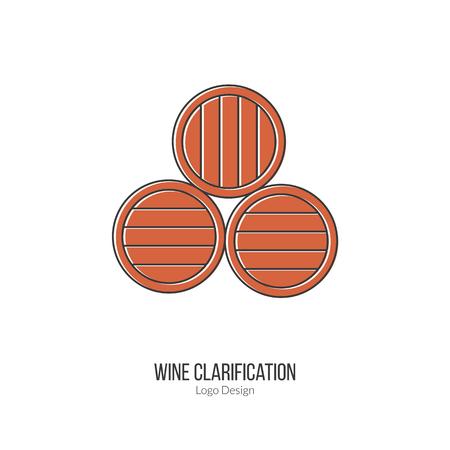 winemaking: Oak wine barrels. Illustration