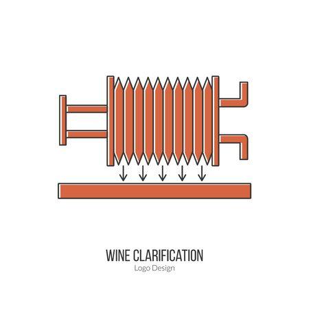 winemaking: Wine filter pump system.