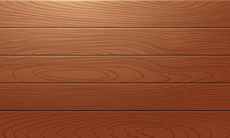 Brown wooden plank realistic texture background. 向量圖像