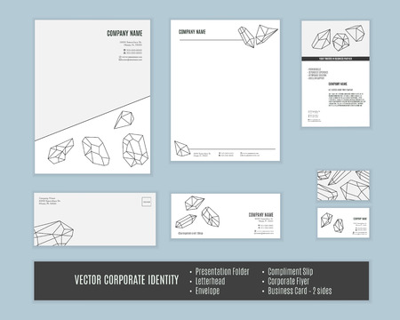 Corporate identity templates. Corporate identity design. Set of corporate identity. Classic stationery template design. Business stationary set. Corporate identity mock ups.