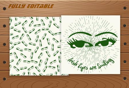 irish culture: Saint Patricks Day poster Illustration