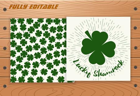 saint patricks day: Saint Patricks Day poster Illustration