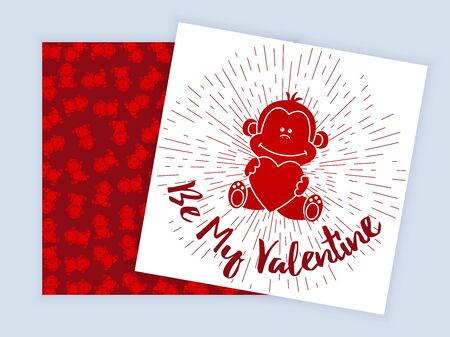Valentines Day poster Banco de Imagens - 61431422