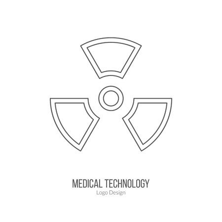 Biohazard sign, symbol. Illustration