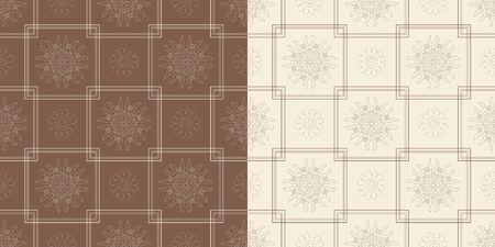 Ornamental seamless pattern with traditional Arabic ornaments. Illusztráció