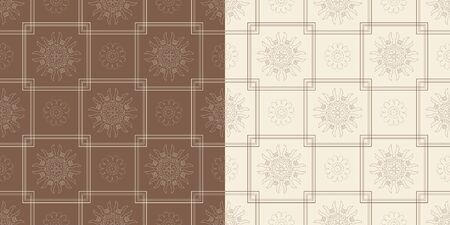 Ornamental seamless pattern with traditional Arabic ornaments. Illustration