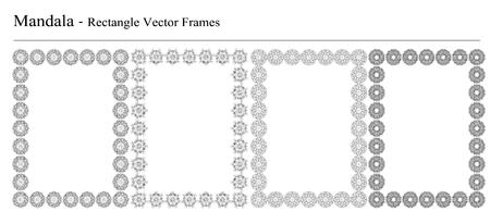 Ensemble de quatre Mandala, rectangle Banque d'images - 61431638
