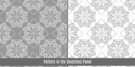 ethnic mix: Seamless pattern with traditional Arabic ornaments.