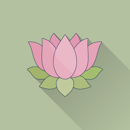 Hand drawn lotus flower.