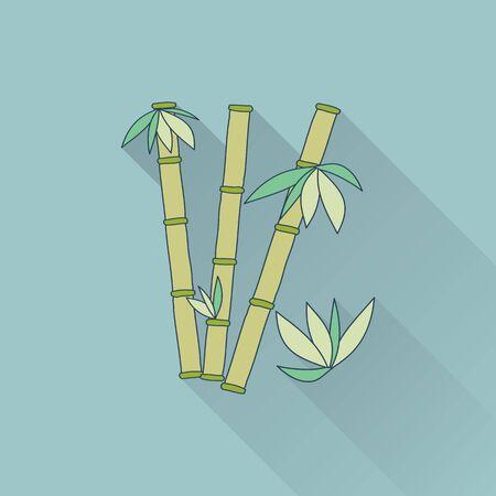 treatment plant: Hand drawn bamboo. Illustration
